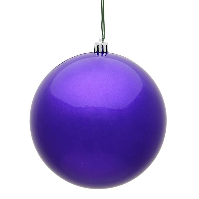 "4.75"" Purple Candy Ball UV Drilled 4/Bag"