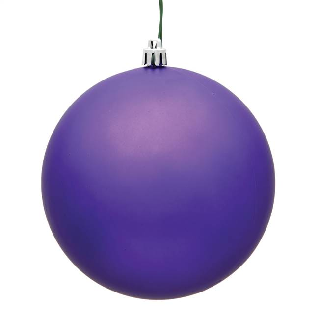 "4.75"" Purple Matte Ball UV Drilled 4/Bag"