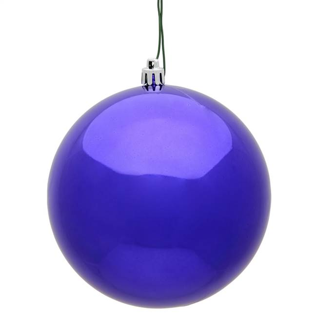 "4.75"" Purple Shiny Ball UV Shatterproof"