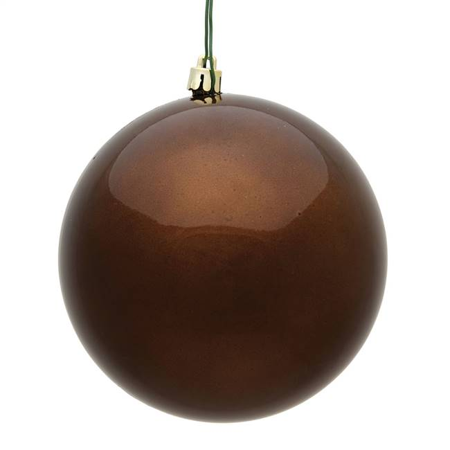 "4.75"" Mocha Candy Ball UV Drilled 4/Bag"
