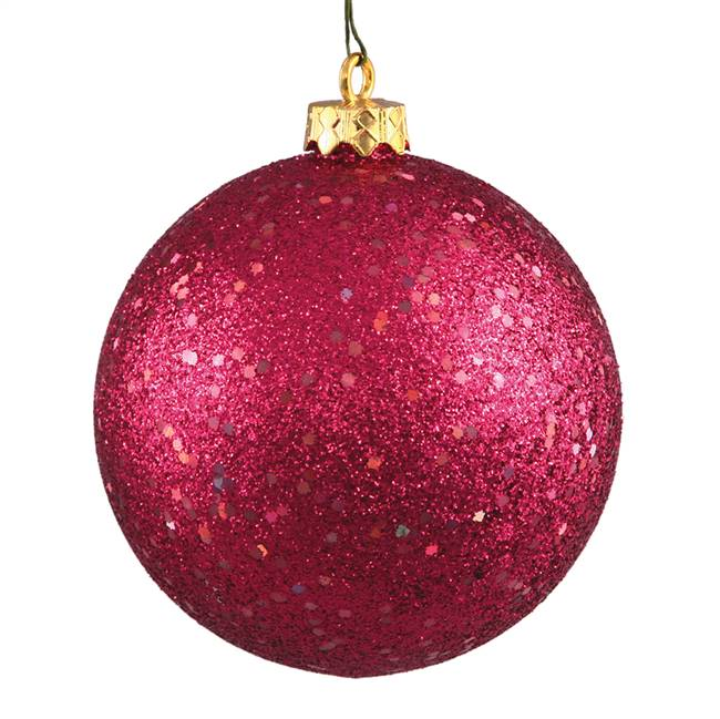"4.75"" Wine Sequin Ball Drilled 4/Bag"