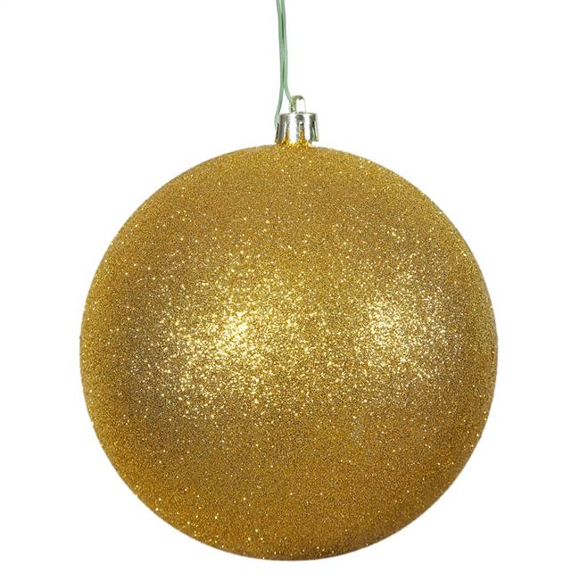 "4.75"" Anti Gold Glitter Ball Drilled 4/B"