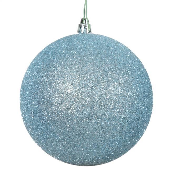 "4.75"" Baby Blue Glitter Ball Drilled 4/B"