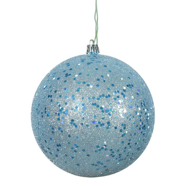 "4.75"" Baby Blue Sequin Ball Drill 4/Bag"