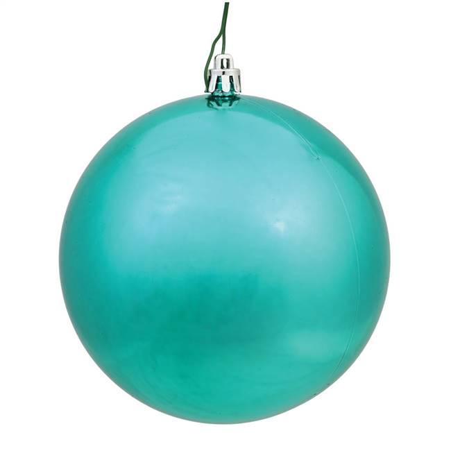 "4.75"" Teal Shiny Ball UV Drilled 4/Bg"