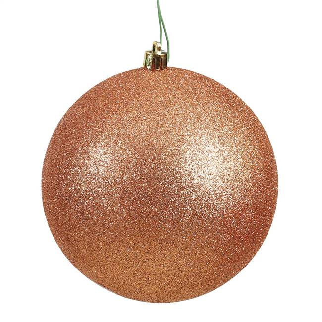 "4.75"" Rose Gold Glitter Ball Drilled 4/B"