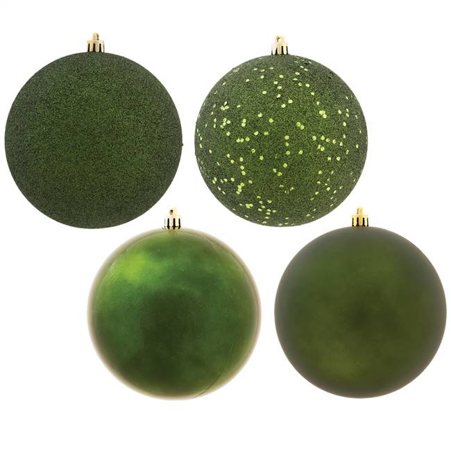 "4.75"" Moss Green Ball 4 Finish Asst 4/Bx"