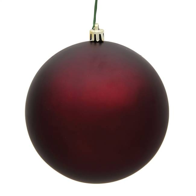 "4.75"" Burgundy Matte Ball UV 4/Bag"