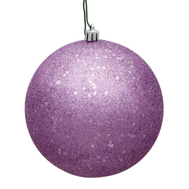 "4.75"" Orchid Sequin Ball Drilled 4/Bag"