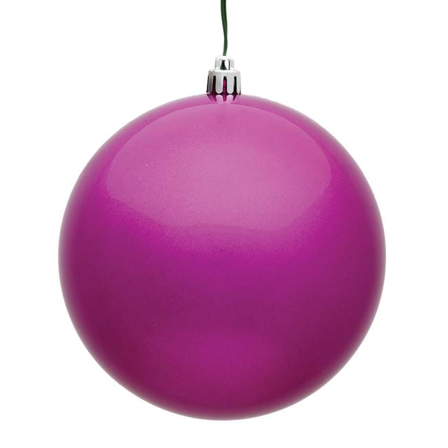 "4.75"" Fuchsia Candy Ball UV 4/Bag"
