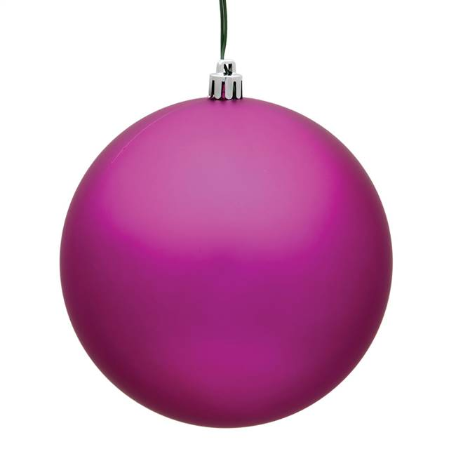 "4.75"" Fuchsia Matte Ball UV 4/Bag"