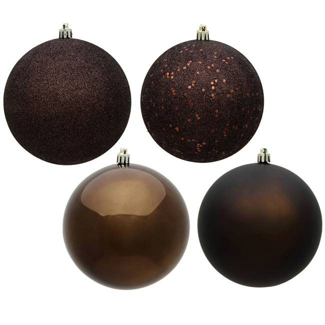 "4.75"" Chocolate Ball 4 Finish Asst 4/Bx"