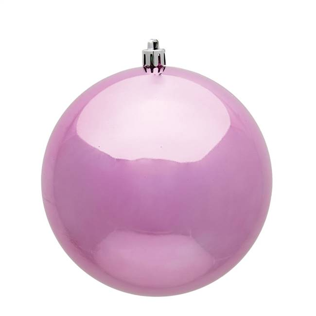 "4.75"" Pink Shiny Ball UV 4/Bag"