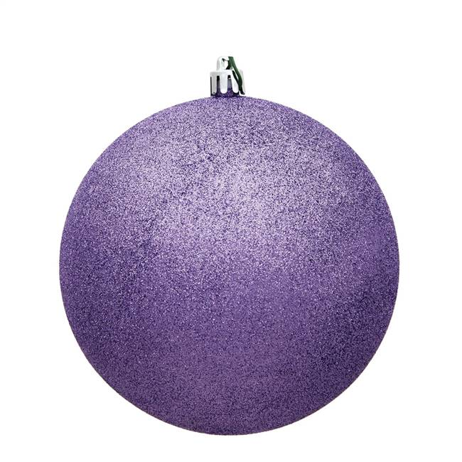 "4.75"" Lavender Glitter Ball Drilled 4/Bg"