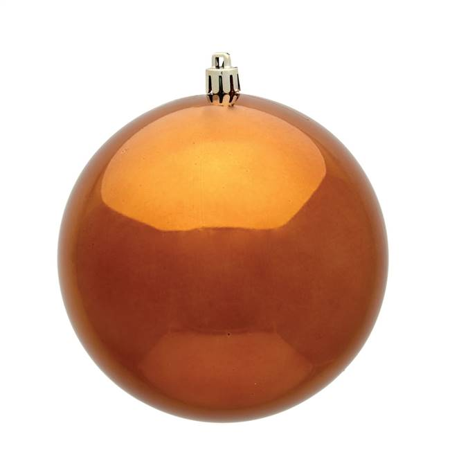 "4.75"" Copper Shiny Ball UV 4/Bag"