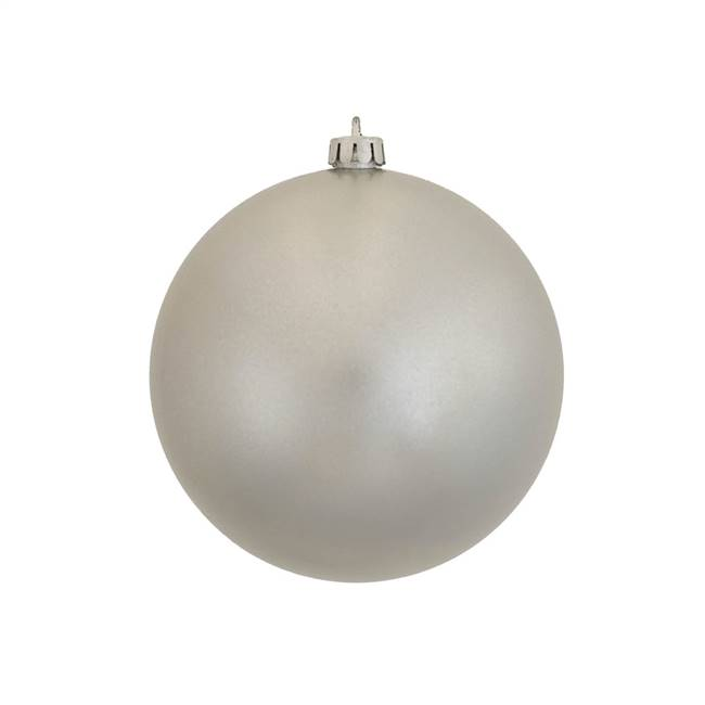 "6"" Silver Candy Ball UV Drilled 4/Bag"