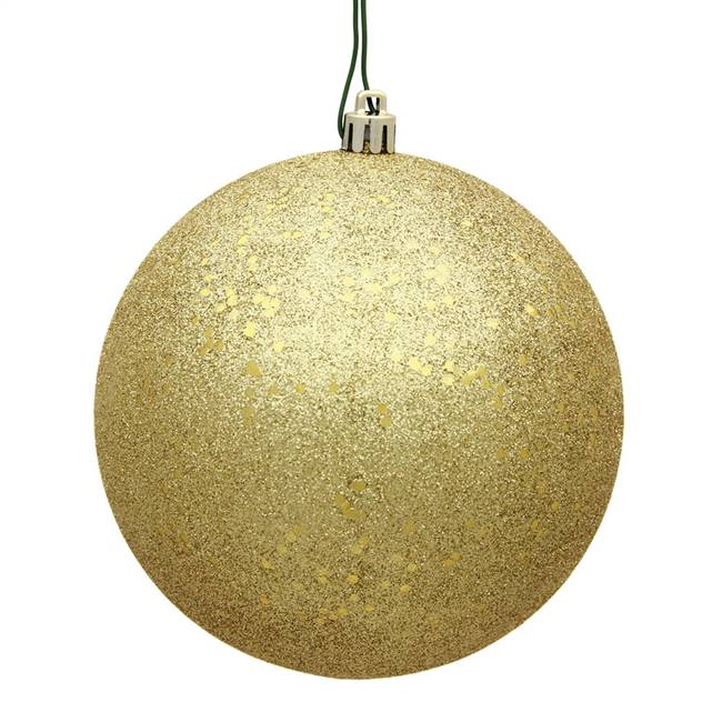 "6"" Gold Sequin Ball Drilled 4/Bag"
