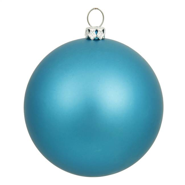 "6"" Turquoise Matte Ball UV Drilled 4/Bag"