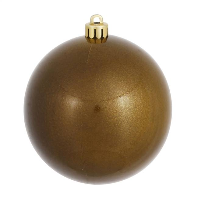 "6"" Olive Candy Ball UV Drilled 4/Bag"