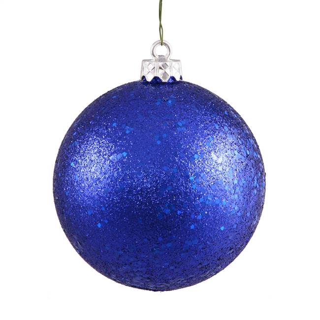 "6"" Cobalt Blue Sequin Ball Drilled 4/Bag"
