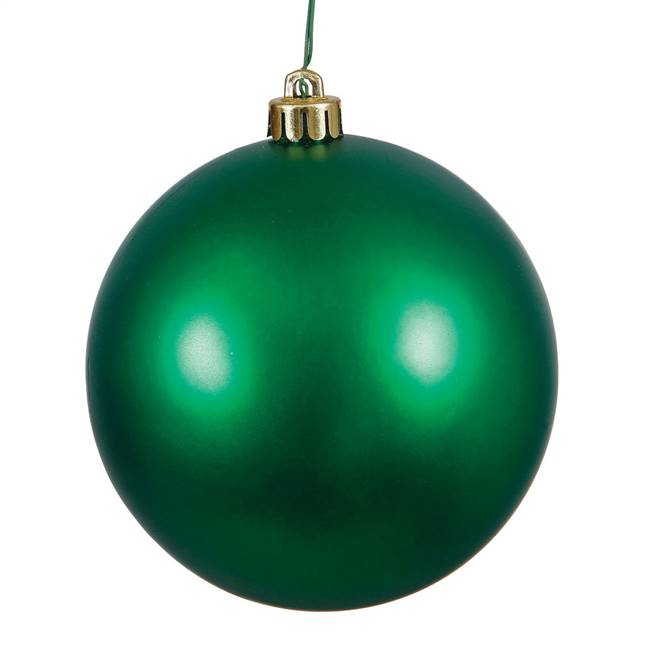 "6"" Emerald Matte Ball Drilled 4/Bag"