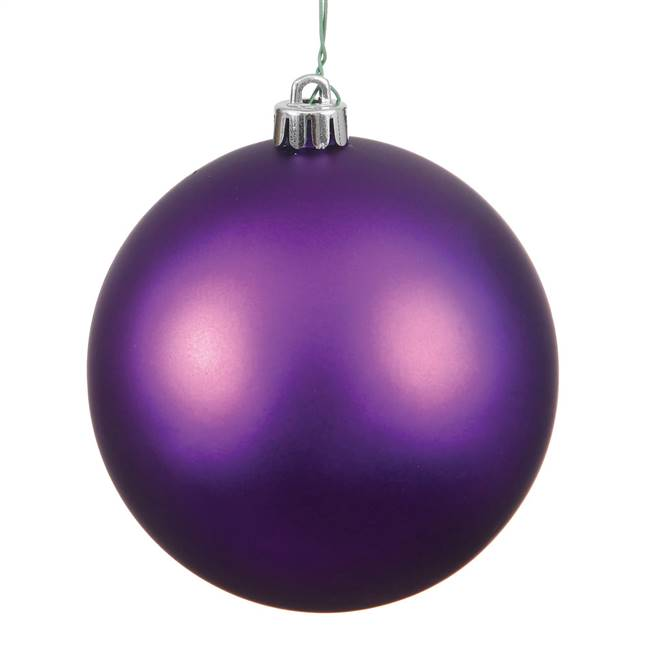 "6"" Plum Matte Ball Drilled 4/Bag"
