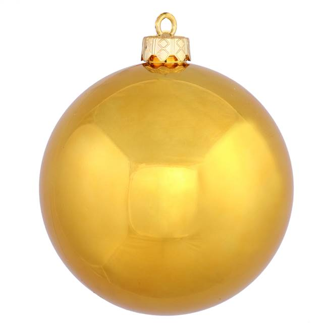 "6"" Anti Gold Shiny Ball UV Drilled 4/Bag"