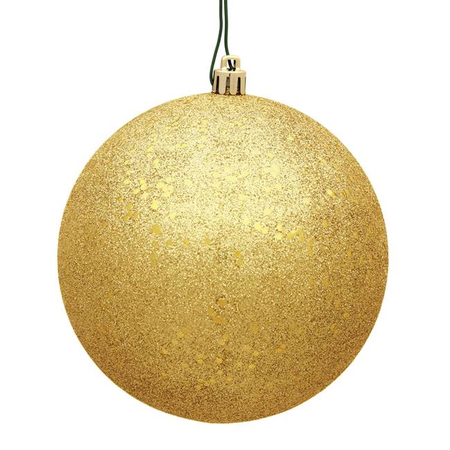 "6"" Honey Gold Sequin Ball Drilled 4/Bag"