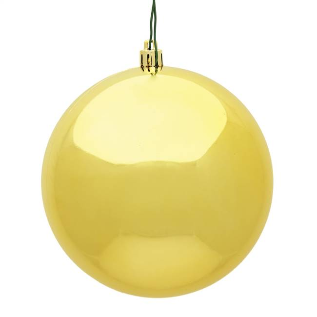 "6"" Honey Gold Shiny Ball UV 4/Bag"