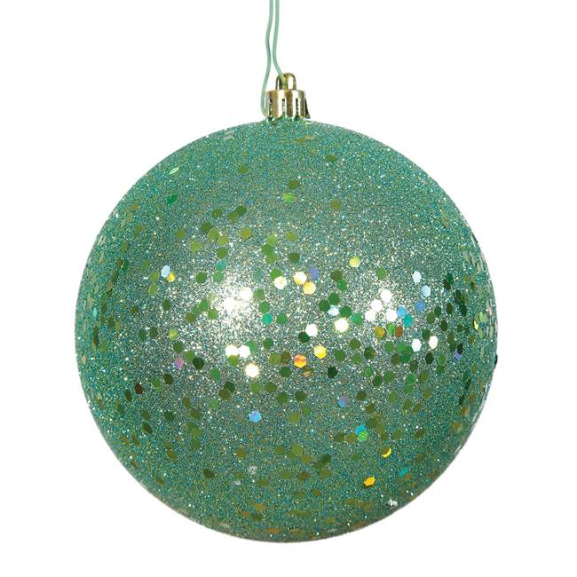 "6"" Seafoam Sequin Ball Drilled 4/Bag"