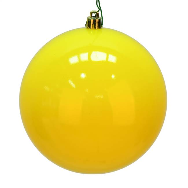 "6"" Yellow Shiny Ball UV 4/Bag"