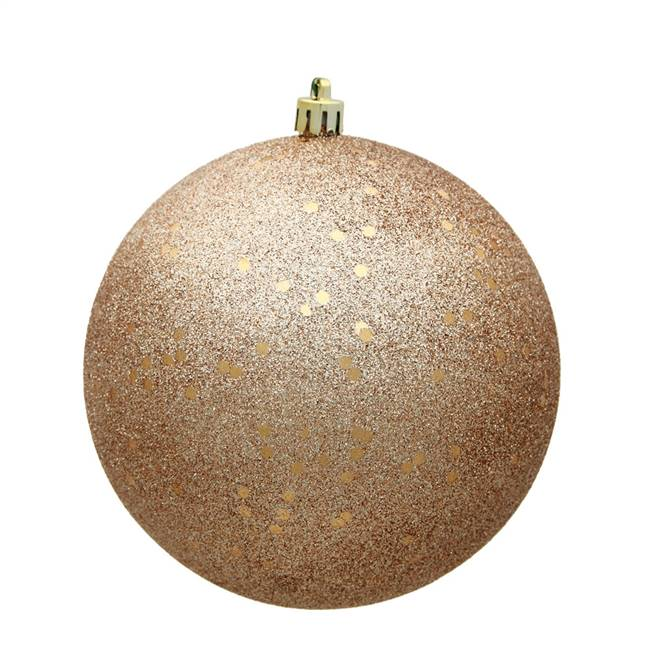 "6"" Cafe Latte Sequin Ball Drilled 4/Bag"