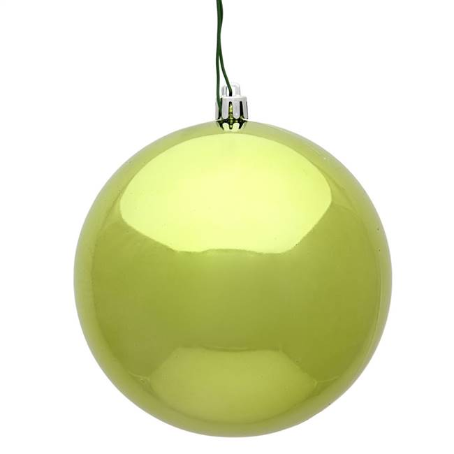 "10"" Lime Shiny Ball UV Drilled Cap"