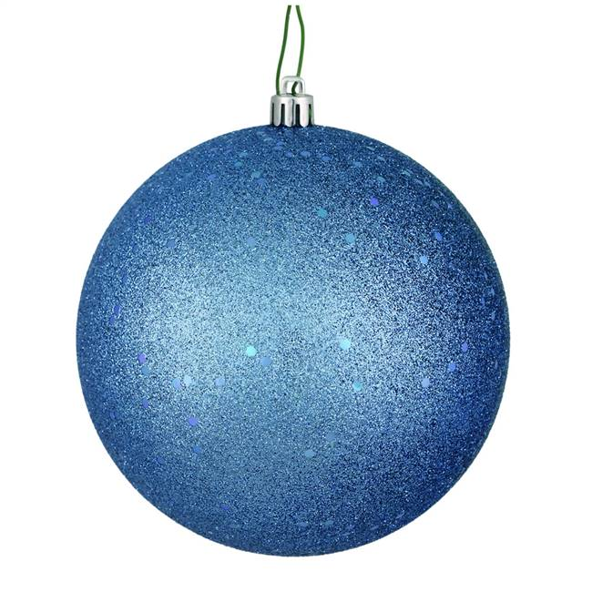 "10"" Periwinkle Sequin Ball Drilled Cap"