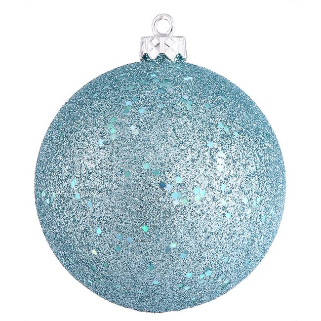"10"" Baby Blue Sequin Ball Drilled Cap"