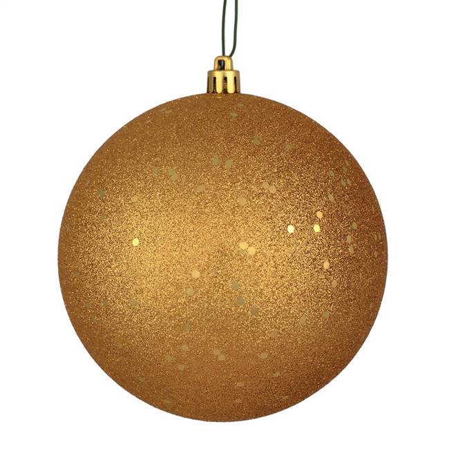 "10"" Copper/Gold Sequin Ball Drilled Cap"