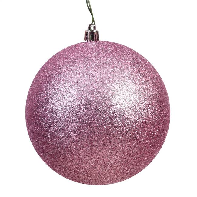 "10"" Mauve Glitter Ball Drilled Cap"