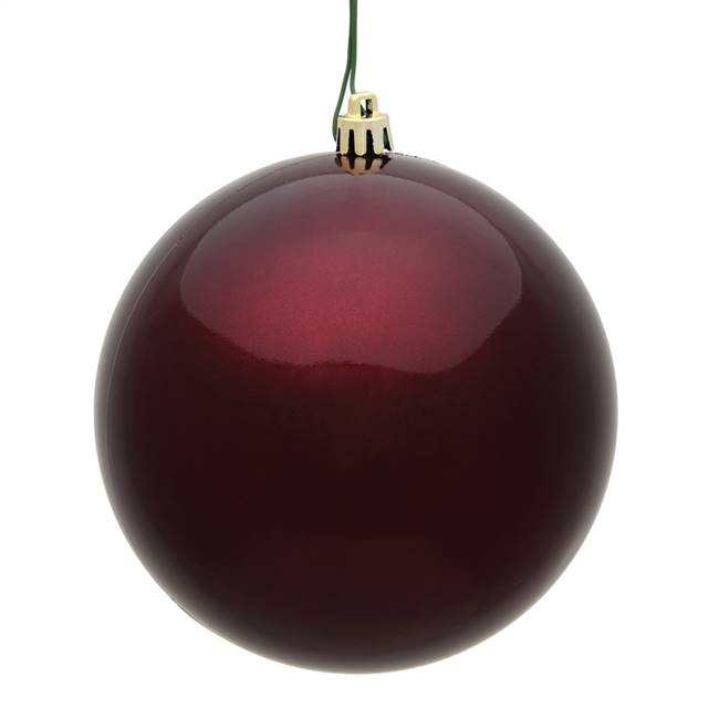 "10"" Burgundy Candy Ball UV Drilled Cap"