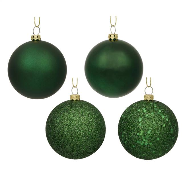 "1.6"" Emerald Green 4 Finish Orn Asst 96/"