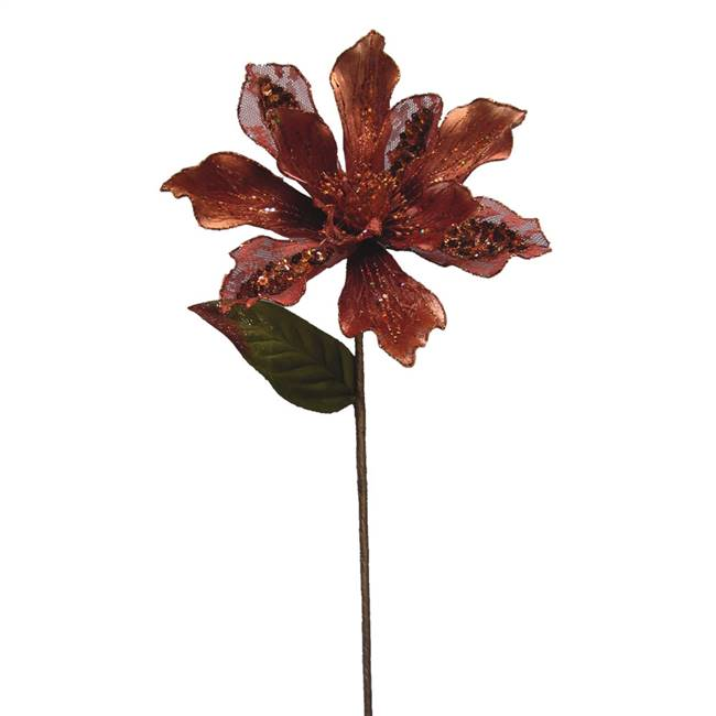 "29"" Copper Velvet Magnolia 9"" Flower"