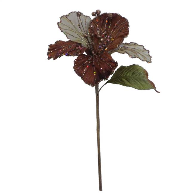 "21"" Chocolate Velvet Hibiscus 6"" Flower"