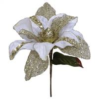 "31"" Cream Glitter Magnolia 13"" Flower"