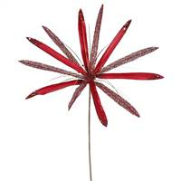 "24"" Red Papyrus, 20"" Flower 3/Bag"