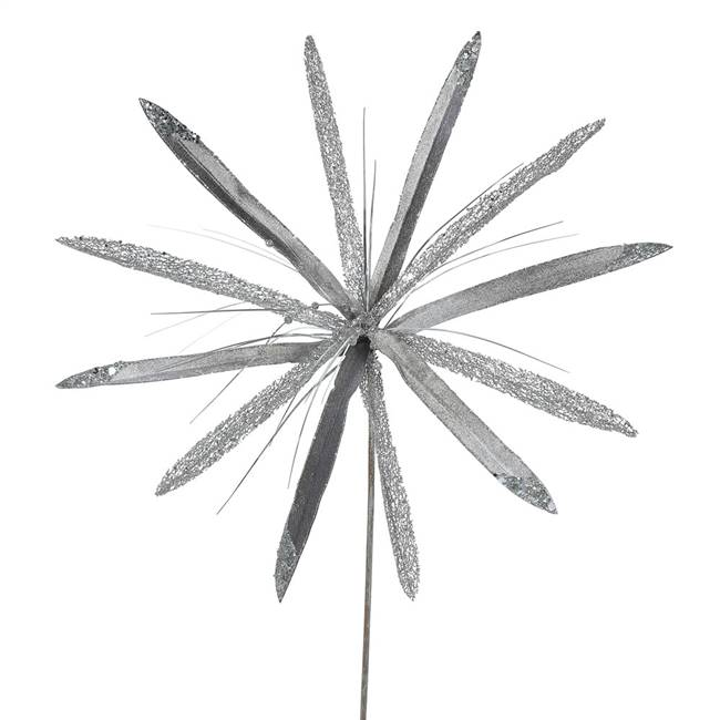 "24"" Pewter Papyrus, 20"" Flower 3/Bag"