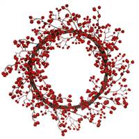 "22"" Red Mixed Berry Wreath Outdoor"
