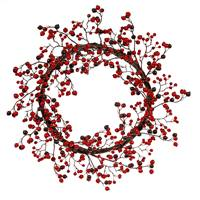"22"" Red/Burgundy Mixed Berry Wreath Outd"