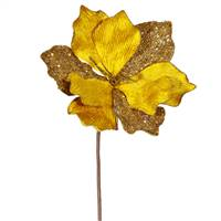"16"" Gold Sparkle Amaryllis Pick"