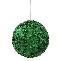 "3.5"" Green Sparkle Sequin Ball"