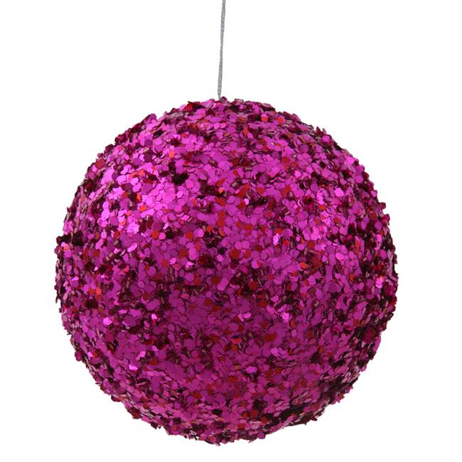 "4.75"" Cerise Sparkle Sequin Ball"