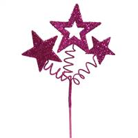 "10"" Cerise Glitter Star Spray"